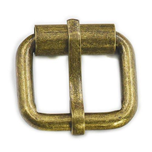 20 parts modessimple tooth 1,91 cm 19 mm Rectangular roller deyard bronze nickel belt buckles 19 mm brown