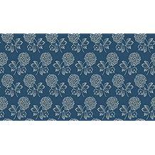 Telas de flores–flores cabeza azul oscuro–mak582–por 0,5Metre–por Makower–100% algodón (flores cabeza azul oscuro mak582)