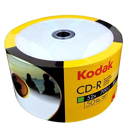 50Original Kodak weiß Inkjet bedruckbar Blanko CD 52x CDR 700MB 80Minuten in Shrinkwrap Verpackung Kodak-cd