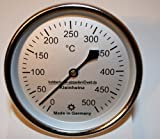 500°C Backofenthermometer Thermometer für Pizzaofen Holzbackofen 200 mm Schaftlänge incl. Führungshülse