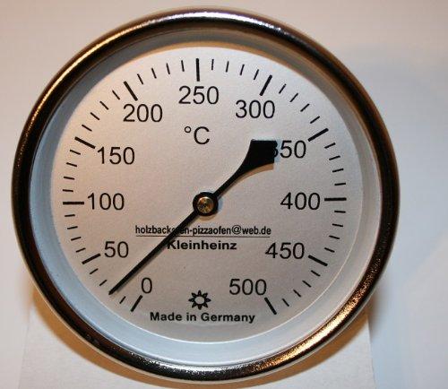 500°C Backofenthermometer Thermometer für Pizzaofen Holzbackofen 300 mm Schaftlänge incl. Führungshülse