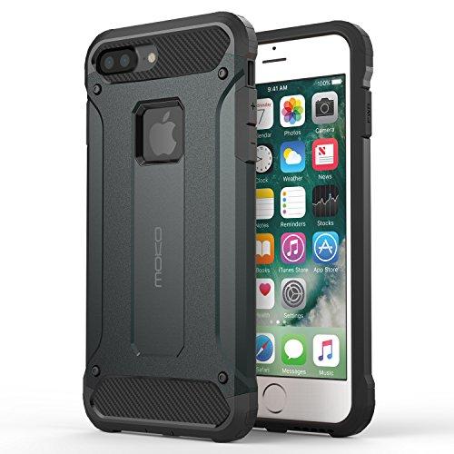 MoKo iPhone 7 Plus Coque–Etui/Housse de protection anti-rayures, double couche robuste, Situation Sportive pour Apple iPhone 7 Plus 5.5 pouces, NOIR Indigo