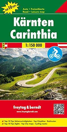 Kärnten, Autokarte 1:150.000, Top 10 Tips, freytag & berndt Auto + Freizeitkarten