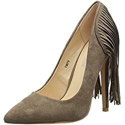 Spot On F9879, Damen Pumps , Grau - Grey (Taupe) - Größe: 38