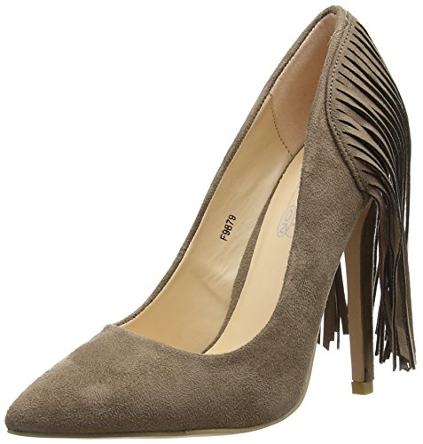 Spot on F9879 Damen Pumps Grey (Taupe)