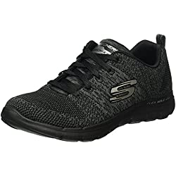 Skechers Flex Appeal 2.0 High Energy Black Womens Trainers-4