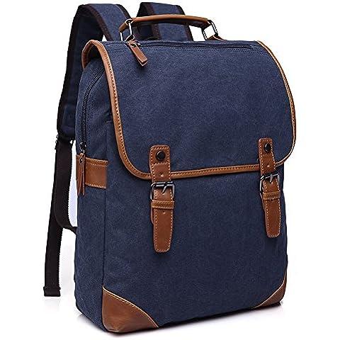 Minetom Lona Backpack Mochilas Escolares Sencillo Mochila Escolar Casual Bolsa Viaje Moda Hombre