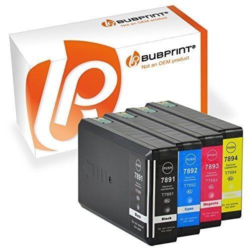 Bubprint 4 CARTUCCE PER STAMPANTE compatibile per EPSON t7891-94 XL BLACK CIANO MAGENTA GIALLO