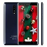 Moviles Libres Baratos 4G,V Mobile S39 5.5 Pulgadas 16GB ROM 5MP Cámara Dual Sim Android 7,0 2800mAh Batería Quad Core Telefono Movil Libres Baratos(Azul)