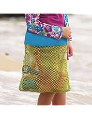 """pepeng grande malla todos arena Away playa bolsa de transporte de y bolsa para juguetes y toallas, 17.71""""x 11.81x 17.71,"""" al aire libre bebé carcasa organizador bolsas, 9.05"""" x 10.04"""" (S)"""