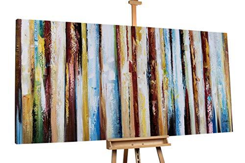 'Stürmische Zeiten' 200x100cm | Abstrakt Linien XXL Bunt | Modernes Kunst Ölbild