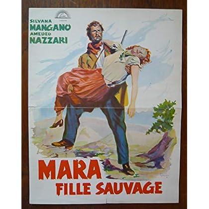 Dossier de presse de Mara fille sauvage (1950) – 31X48cm - Film de Mario Camerini avec S Mangano, A Nazzari – Photos N&B – résumé scénario – Bon état.