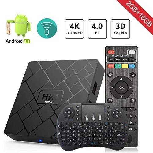 Android 8.1 TV Box Aumkoo HK1 Mini Inteligente Cuatro