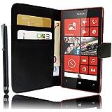 Etui Housse Cuir Portefeuille pour Nokia Lumia 520 et Lumia 525 + STYLET et 3 FILMS OFFERTS !