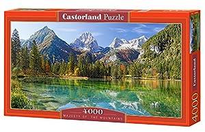 Castorland Majesty of The Mountains 4000 pcs Puzzle - Rompecabezas (Puzzle Rompecabezas, Paisaje, Niños y Adultos, Niño/niña, 9 año(s), Interior)