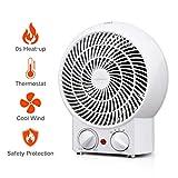 Aigostar Airwin White 33IEK- Termoventilatore regolabile con doppia funzione calda…