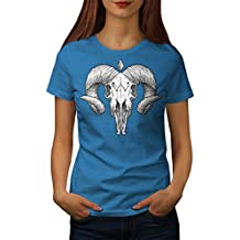 wellcoda Satan Horn Frau S-2XL T-Shirt