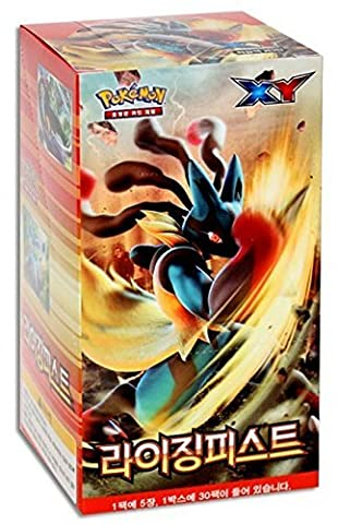 Pokemon Cards Game XY Booster Pack Box [Rising Fist] Total 150 Cards / Korean Version (Langue: Coréen)