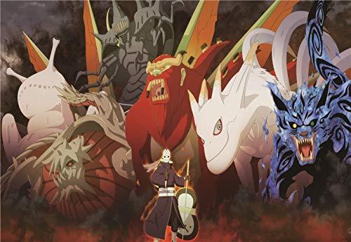XWArtpic Classic Naruto Sasuke Anime Dragon Ball Z Cartoon Comic Picture Kids Room Decor Living Room...