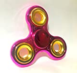 #7: Toykart® Exclusive Chrome Edition Fidget Spinner, Red/Pink Gold