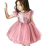 i-uend 2019 Baby Rock, Kleinkind Baby girlgirls ärmellose quaste tüll rückenfreie Pailletten Party Prinzessin dressFür 0-4 Jahre