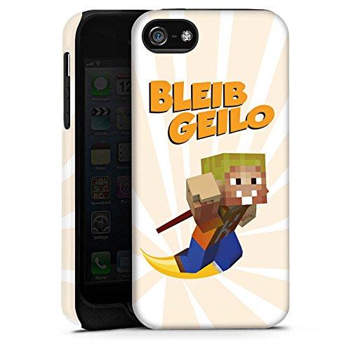 Apple iPhone X Silikon Hülle Case Schutzhülle LPmitKev Fanartikel Merchandise Bleib Geilo Weiß Tough Case matt