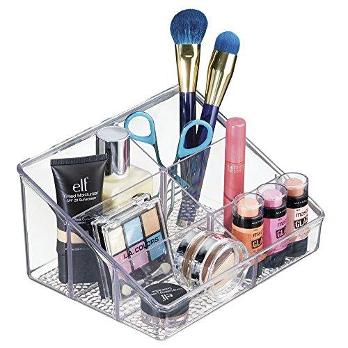 mDesign Porta Trucchi con 6 Scomparti Organizer Cosmetici per smalti rossetti make up profumi prodotti per il viso flaconcini Contenitore Plastica