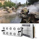 HUKOER 10 têtes Brumisateur ultrasonique de brumisateur, humidificateur de Brouillard 5L / H avec transformateur pour la Formation de Voile Conservation des Aliments Jardin/Etang etc...