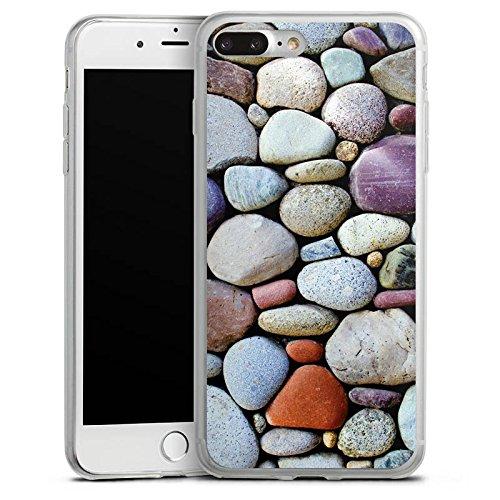 Apple iPhone 8 Plus Slim Case Silikon Hülle Schutzhülle Kieselsteine Steine Fels Silikon Slim Case transparent