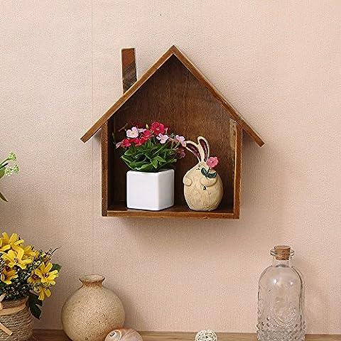 Small Color Houses Board Regal Rack Regal/Regal/CD Regale, 23.5 cm * 24,5 cm * 8,5 cm, Holz