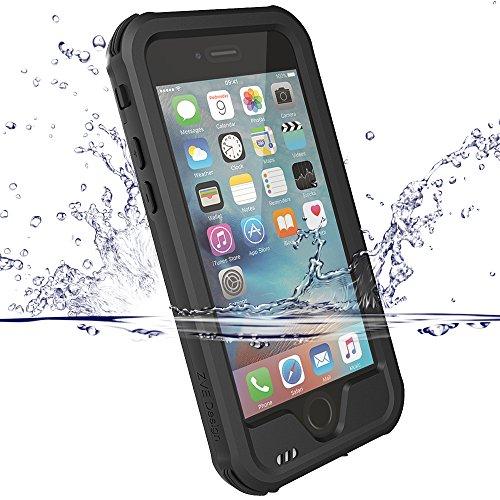 iPhone 6S Hülle,iPhone 6 Case, ZVE® Ganzkörper Outdoor Staubdicht Schneedicht Stoßfest Wasserdicht Schutzhülle Tasche Bumper Cover Case mit Displayschutz für iPhone 6/6s 4.7 zoll schwarz