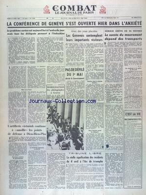 COMBAT [No 3053] du 27/04/1954 - LA CONF...