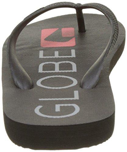 Globe Fairfax, Chaussures de Plage et Piscine Homme Noir (Black/Grey/Red)