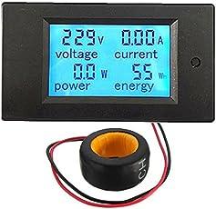 Geekcreit 100A 22000W Power Monitor Module AC Meter Panel 45-65Hz Test Voltage AC 80-260V