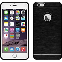 Funda Rígida para Apple iPhone 6 Plus / 6s Plus - metálico negro - Cover PhoneNatic Cubierta + protector de pantalla