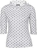 Küstenluder Damen Oberteil Tonja Punkte Schleifen Shirt Weiß XL