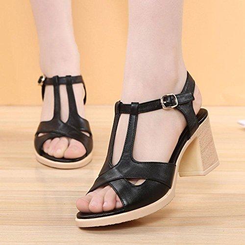 L@YC Sandales Femme Sandales Femme Sandales à Talons Hauts Chaussures Femme Sandales Confortables Black