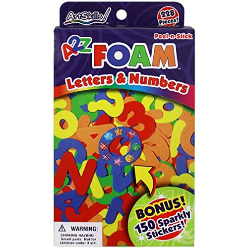 Artability Peel-N-Stick Letras números Espuma 228/Pkg-W/150