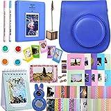 SAIKA Accessori per fotocamere - [Instax mini 9 Custodia+album+coloriselfie filtro+cinghia+appendiabiti+tavolo+adesivo ETC] per Fujifilm Instax Mini 9/8/8+ Fotocamera istantanea - blu cobalto