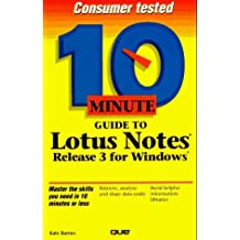 10 Minute guide to Lotus Notes for Windows