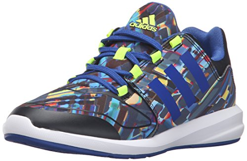 Adidas S-Flex K Toile Baskets Black Collegiate Royal Blue Solar Yellow