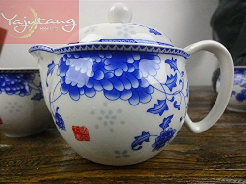 Yajutang China Porzellan Chinesische Teeservice Tee-Sets 1 Teekanne + 6 Tee Tassen