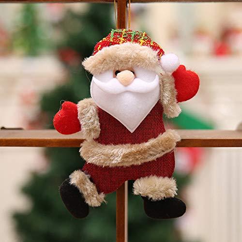 Mitlfuny✈✈✈2 PC Weihnachtsschmuck Geschenk Weihnachtsmann Schneemann Rentier Spielzeug -