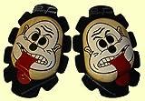 Zeidler 8800.01-07 Holzknieschleifer NEU! 2012 NEU! 2012 *22mm STARK*, mit Aufdruck Gesicht und Zunge, woodkneesliders
