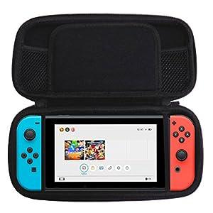 Slabo Schutzhülle für Nintendo Switch Schutztasche Tragetasche Case aus robusten Eva-Material – Grau | Schwarz