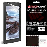 """[2 Pack] TECHGEAR® Amazon Fire 7"""" & Fire Kids Edition 7"""" (5th Generation/2015 Release) Premium MATTE / ANTI GLARE Screen Protector Covers With Cleaning Cloth + Application Card (NOT FOR OLDER GENERATION AMAZON TABLETS!)"""