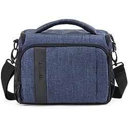 BAGSMART Housse en Nylon pour Appareil Photo Reflex Numérique Canon/Nikon/Sony/Panasonic- Sacoche d'Appareil Photo Reflex en Nylon