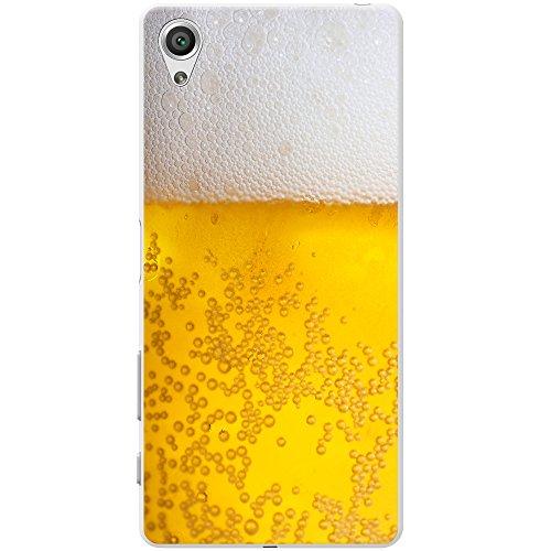 Nahaufnahme schaumiges Bier weiße Krone Hartschalenhülle Telefonhülle zum Aufstecken für Sony Xperia X