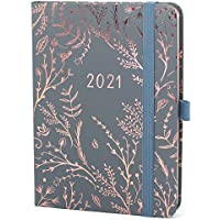 Boxclever Press Everyday Agenda 2021. Agenda 2021 semainier commence janv à déc 21. Planner 2021 avec pages de planning mensuelle & de notes pointillés. Agenda de poche en Gris