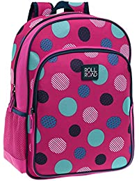 Roll Road 4652351 Dots Mochila Escolar, 15.6 Litros, Color Rosa